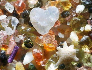 What ocean sand looks like - magnified 250 times.