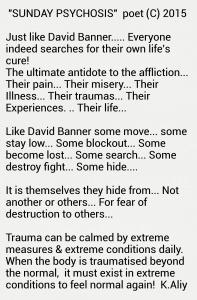 Extreme conditions trauma