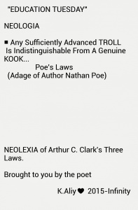 Neologisms clark 3 laws 4