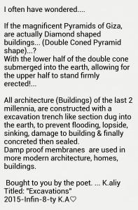Diamond cone shaped pyramids