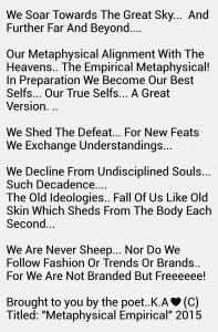 Metaphysical Empirical